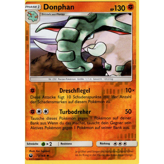 Donphan - 73/168 - Reverse Holo