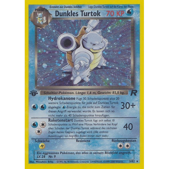 Dunkles Turtok - 3/82 - Holo 1st Edition - Good