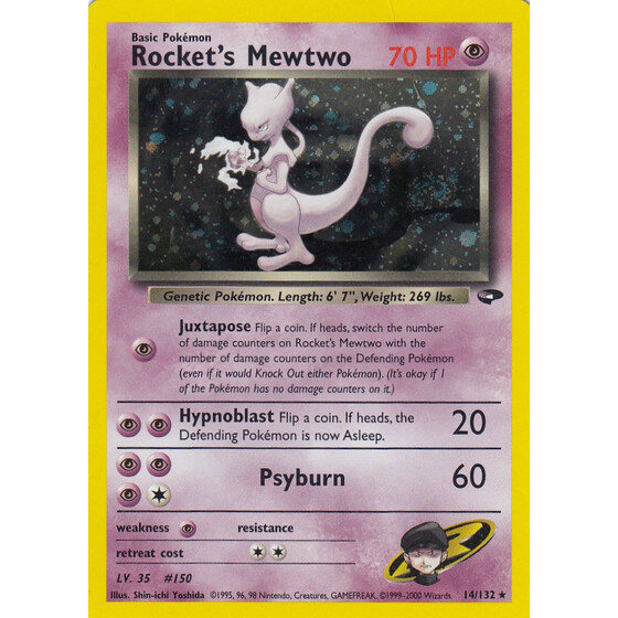 Rockets Mewtwo - 14/132 - Holo - Played