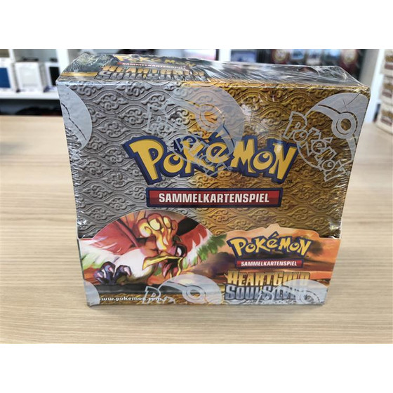 Pokemon Heart Gold & Soul Silver Display Deutsch -...
