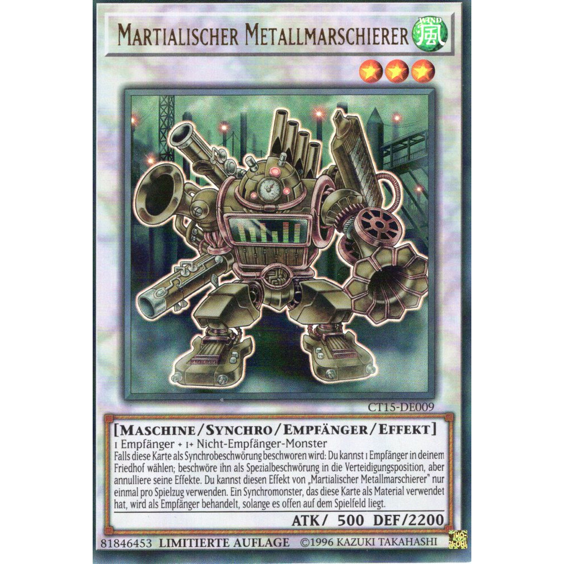 TC Ultra rare de nm Martialischer metallmarschierer-ct15-de009 Tin Box
