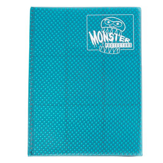 Monster Protection Binder Holofoil Aqua Blue (9-Pocket)