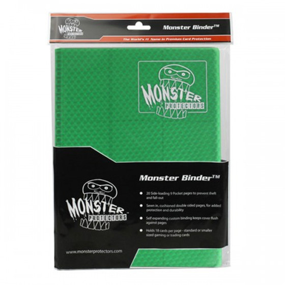 Monster Protection Binder Holofoil Green (9-Pocket)
