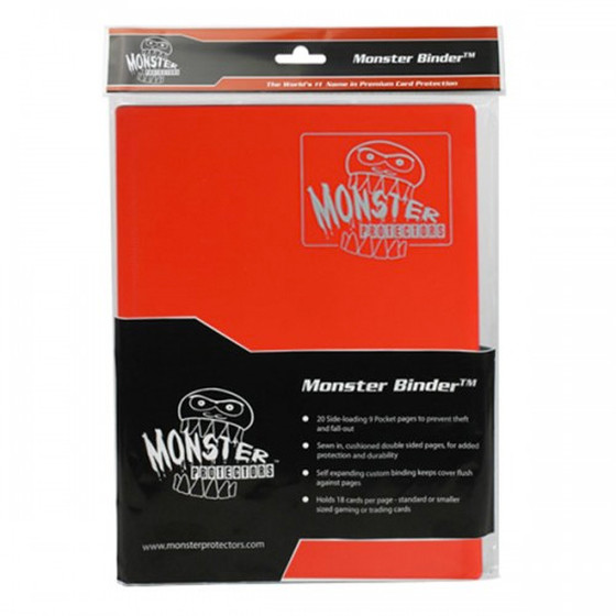 Monster Protection Binder Matte Red (9-Pocket)