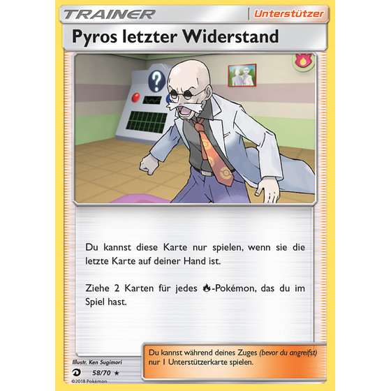 Pyros letzter Widerstand - 58/70 - Reverse Holo