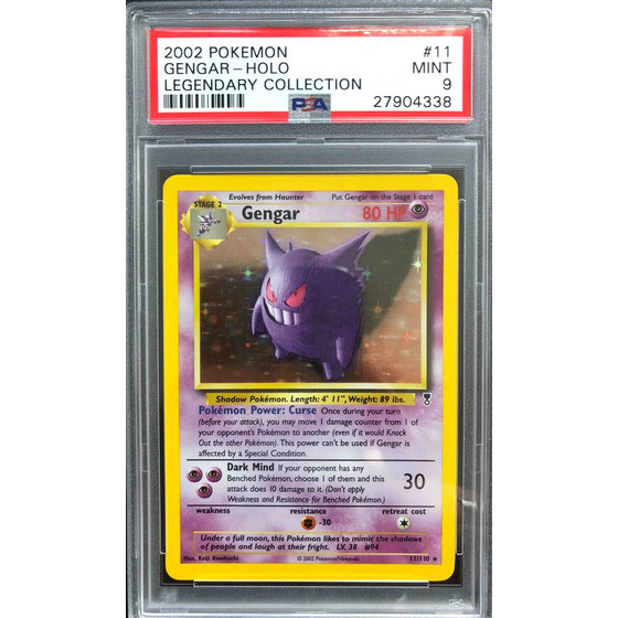 Gengar - 11/110 Legendary Collection - PSA 9 Holo Mint