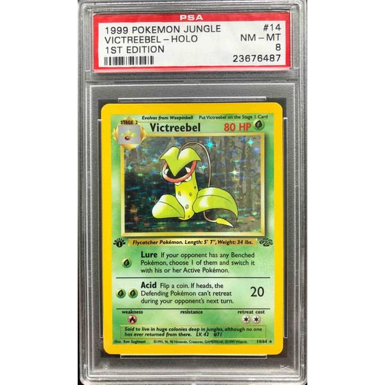Victreebel - 14/64 Jungle 1st Edition - PSA 8 Holo NM - MT