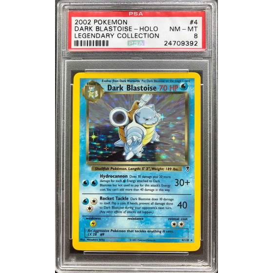 Dark Blastoise - 4/110 Legendary Collection - PSA 8 Holo...