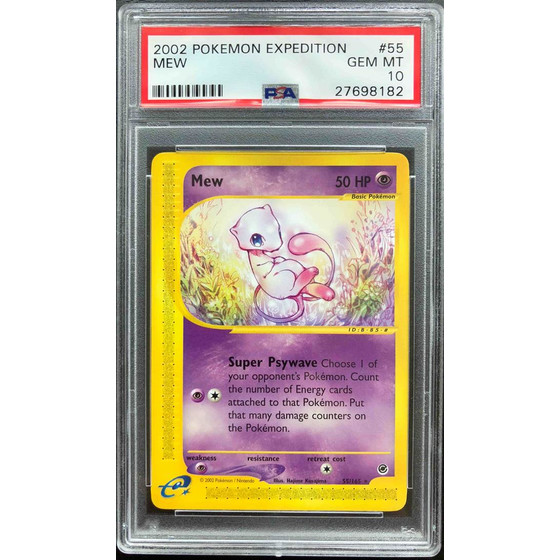 Mew - 55/165 Expedition - PSA 10 Rare GEM MT