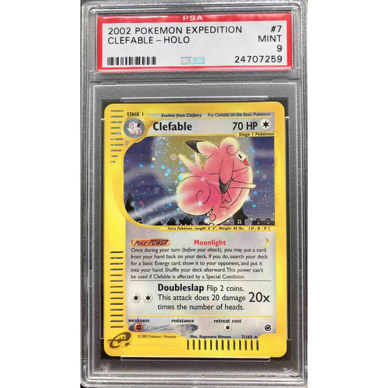 Clefable - 7/165 Expedition - PSA 9 Holo MINT