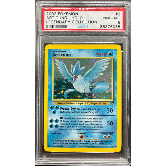 Articuno - 2/110 Legendary Collection - PSA 8 Holo NM - MT