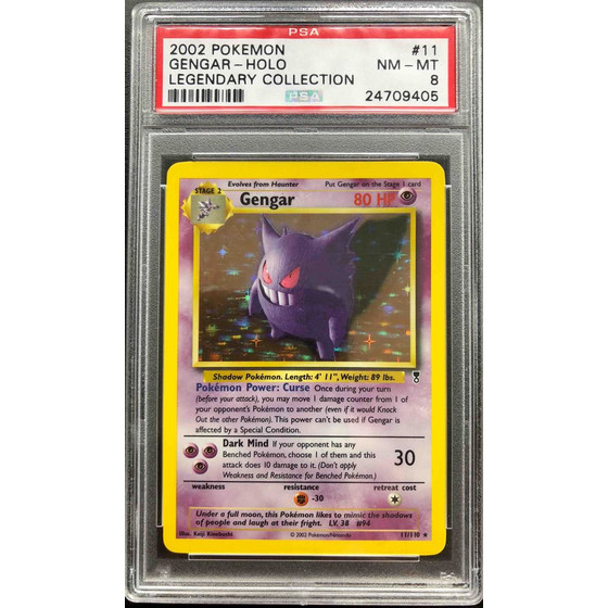 Gengar - 11/110 Legendary Collection - PSA 8 Holo NM - MT