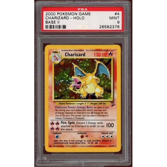 Charizard - 4/130 Base Set 2 - PSA 9 Holo MINT
