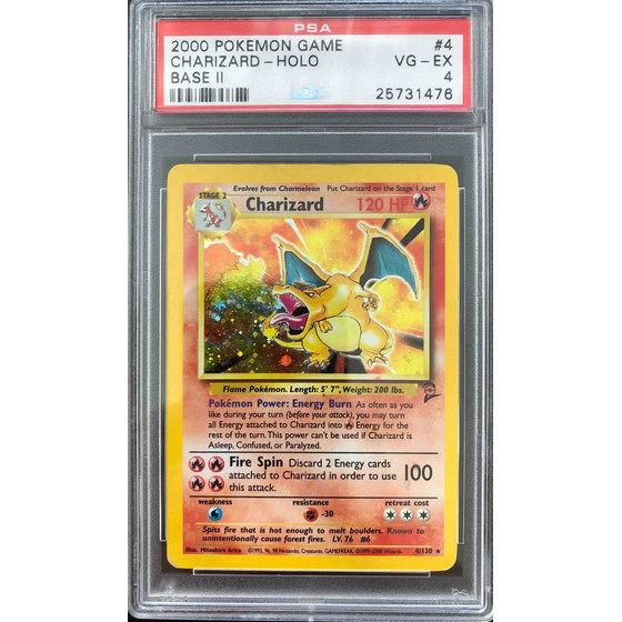 Charizard - 4/130 Base Set 2 - PSA 4 Holo VG - EX