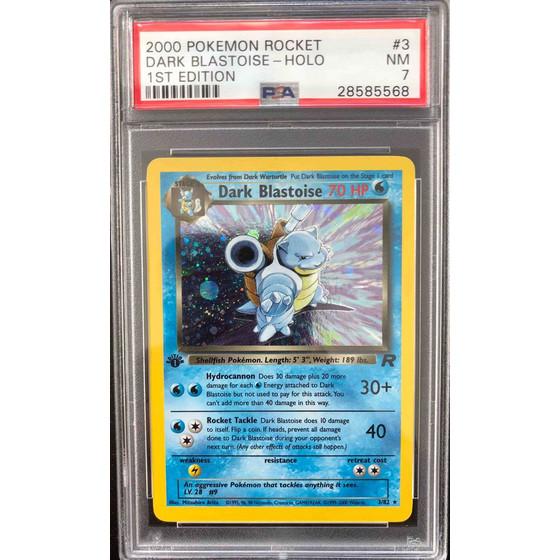 Dark Blastoise - 3/82 Team Rocket 1st Edition - PSA 7...