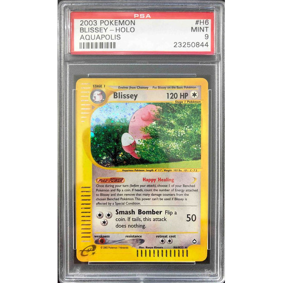 Blissey - H6/H32 Aquapolis - PSA 9 Holo MINT