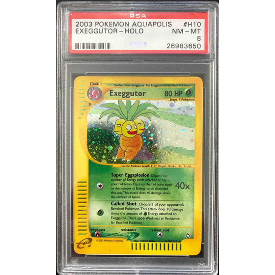 Exeggutor - H10/H32 Aquapolis - PSA 8 Holo NM - MT