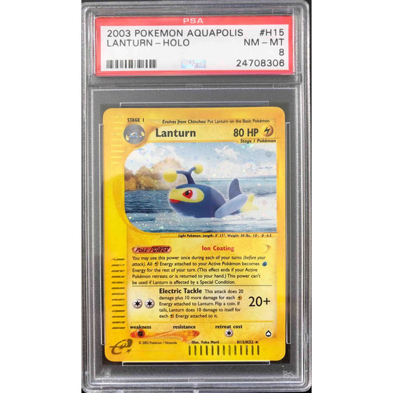 Lanturn - H15/H32 Aquapolis - PSA 8 Holo NM - MT