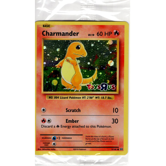 Charmander/Glumanda - 9/108 XY12 Evolutions Toys R Us...