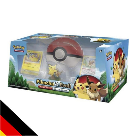 Pokeball Kollektion Pikachu & Evoli