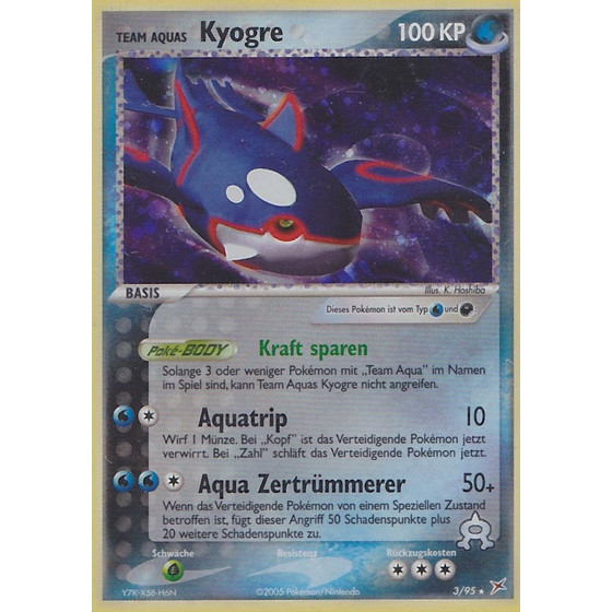 Team Aquas Kyogre - 3/95 - Theme Deck Rare