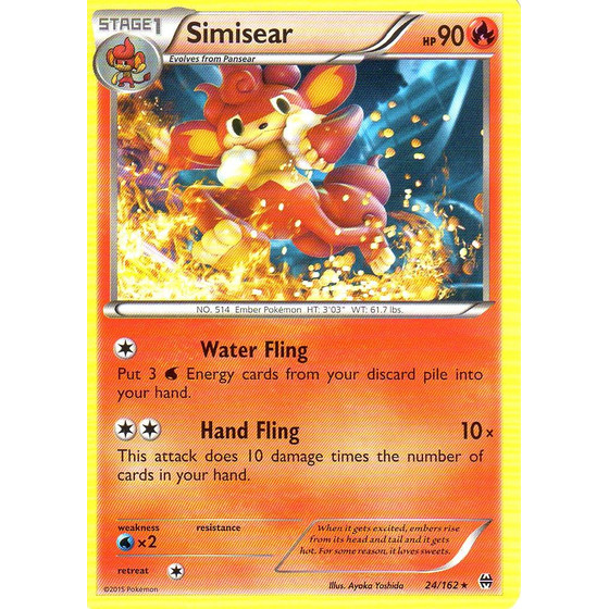 Simisear - 24/162 - Rare