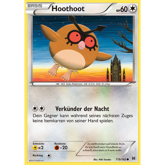 Hoothoot - 119/162 - Common