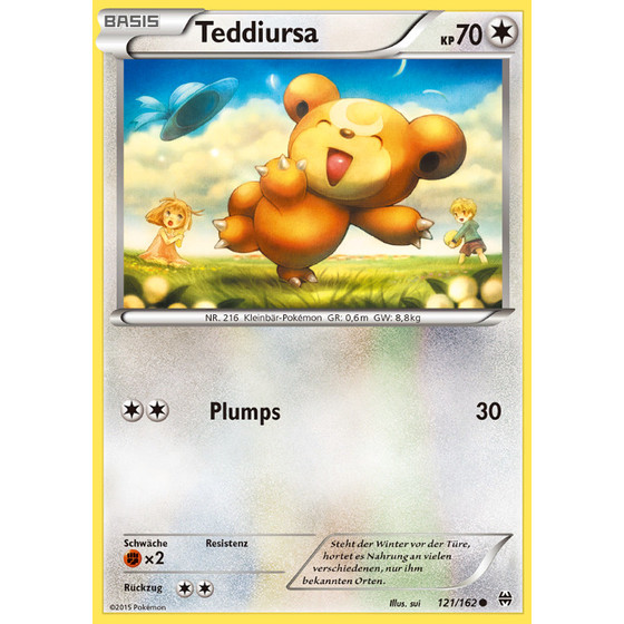 Teddiursa - 121/162 - Common
